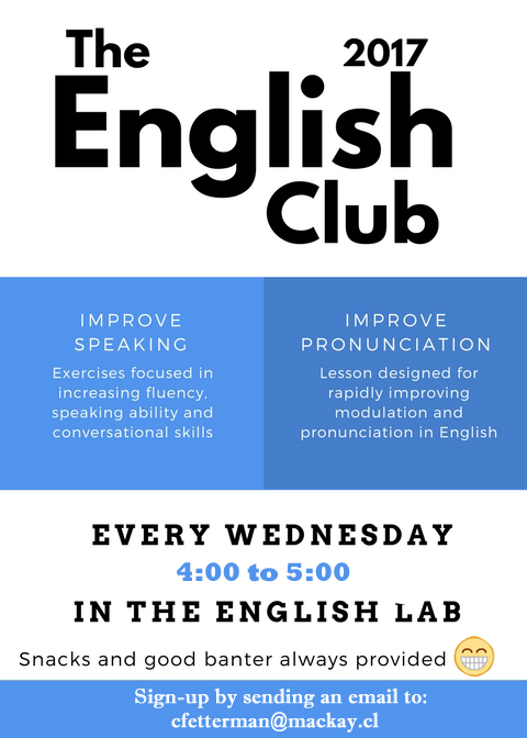English Club sign up by best