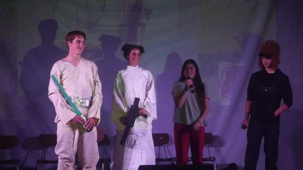 Luke Leia onstage